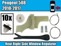 Window Winder Repair Kit For PEUGEOT 508 SALOON  Rear Right Fastener Clips